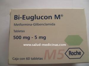 BI-EUGLUCON-M5-METFORMINA 50 MG - GLIBENCLAMIDA 5 MG-CAJA-ROCHE