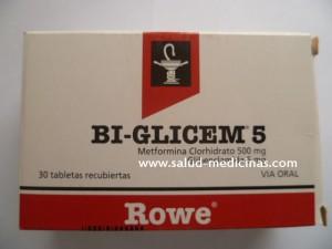 BI GLICEM 5MG-GLIBENCLAMIDA 5MG-CAJA-ROWE