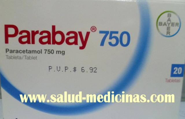 Parabay 750 mg Acetaminofen Paracetamol Bayer